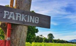 klart tecken för parkeringsfotografi att använda Royaltyfri Bild