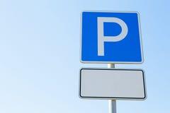 klart tecken för parkeringsfotografi att använda royaltyfria bilder