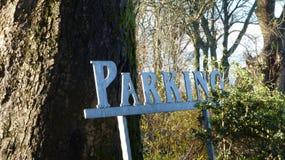klart tecken för parkeringsfotografi att använda Royaltyfri Fotografi