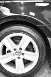 Klart till salu för oljt och skinande rent ContiPro kontaktgummihjul Arkivbild