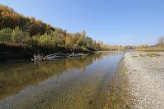Klart vatten i floden Royaltyfri Fotografi
