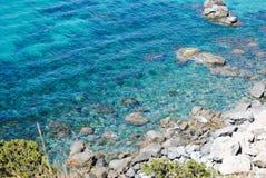 Klart vatten i havet arkivbild