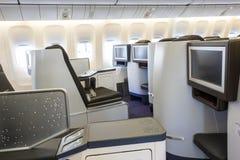 Klasa business w samolocie Fotografia Stock