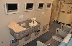 A-380 klasa childrenbed od Singapore Airlines zdjęcie stock