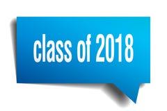 Klasa 2018 3d mowy błękitny bąbel Zdjęcie Royalty Free