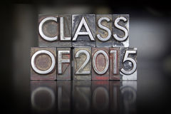 Klasa 2015 Letterpress Zdjęcia Stock