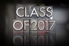 Klasa 2017 Letterpress Zdjęcie Royalty Free