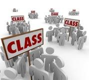 Klasa Podpisuje grupa uczni krok prawny Szkolnej sprawy sądowej ludzi Fotografia Stock