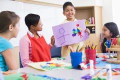 klasa szkoły podstawowej sztuki Obrazy Royalty Free