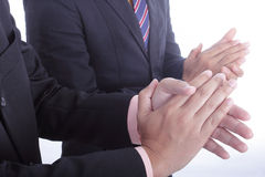 Klasczący ręki dla powitania i gratulacje dla docenia Zdjęcia Stock
