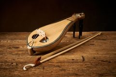 Klasik grec et turc traditionnel KE de lyra de politiki d'instrument image stock