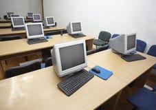 Klaslokaal 1 van de computer Stock Foto