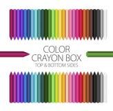 Klaslokaal - de Doos van het Kleurenkleurpotlood Stock Afbeeldingen