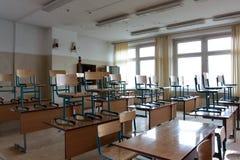 Klaslokaal na de les Stock Foto's
