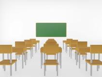 Klaslokaal op witte achtergrond Royalty-vrije Stock Fotografie