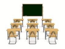 Klaslokaal op witte achtergrond Stock Foto's