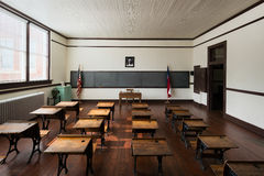 Klaslokaal in Vlaktesmiddelbare school Royalty-vrije Stock Foto's