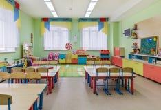 Klaslokalen in kleuterschool Stock Afbeeldingen