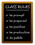 Klasowe reguły ilustracja wektor