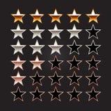 Klassa stjärnor rating set stjärnor Royaltyfria Bilder
