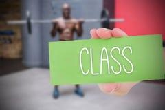 Klasse gegen Leutehintergrund Stockfotografie