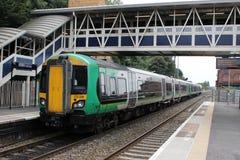 Klasse 172 turbostar diesel trein met meerdere eenheden royalty-vrije stock afbeelding