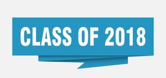 Klasse van 2018 royalty-vrije illustratie