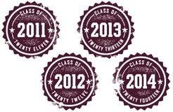 Klasse van 2011-2014 royalty-vrije illustratie