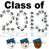 Klasse van 2013 Gezichten Stock Foto
