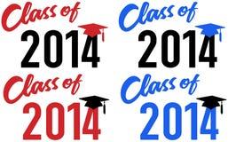 Klasse van de datum van de de schoolgraduatie van 2014 royalty-vrije illustratie