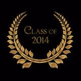 Klasse van de gouden laurier van 2014 vector illustratie