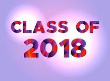 Klasse van het Concepten Kleurrijk Word Art Illustration van 2018 Royalty-vrije Stock Foto