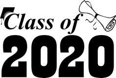 Klasse van het Een diploma behalen van 2020 Klasse stock illustratie