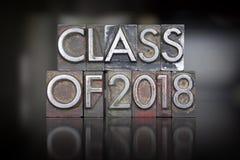 Klasse van het Letterzetsel van 2018 Stock Fotografie