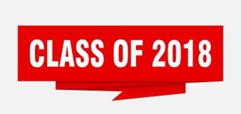 Klasse von 2018 lizenzfreie abbildung