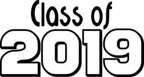 Klasse von 2019 Blockschrift Lizenzfreie Stockfotos