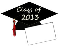 Klasse von College-Abitur-Schutzkappe 2013 Lizenzfreie Stockbilder