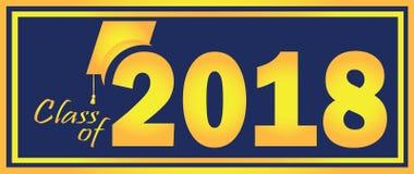 Klasse von 2018 gelb und blau Lizenzfreies Stockfoto