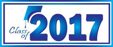 Klasse von Hintergrund 2017 Lizenzfreies Stockbild