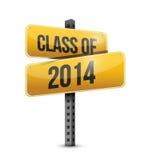 Klasse von Verkehrsschild-Illustrationsdesign 2014 Stockfotografie