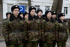 Klassen in boor in de kadetkorpsen van de politie Royalty-vrije Stock Foto's