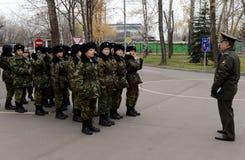 Klassen in boor in de kadetkorpsen van de politie Royalty-vrije Stock Afbeelding