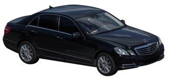 Klassenschwarzes Mercedess s auf einem transparenten Hintergrund stockbilder