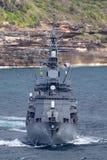 Klassenzerst?rer JS Makinami Takanami der Japan-Seeselbstverteidigungskraft Abreisesydney harbor stockfoto