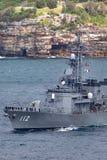 Klassenzerst?rer JS Makinami Takanami der Japan-Seeselbstverteidigungskraft Abreisesydney harbor lizenzfreies stockfoto