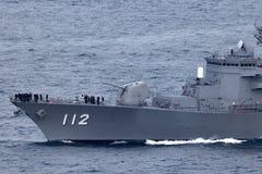 Klassenzerst?rer JS Makinami Takanami der Japan-Seeselbstverteidigungskraft Abreisesydney harbor lizenzfreies stockbild