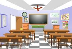 Klassenzimmer lizenzfreie abbildung