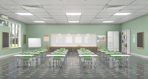 Klassenzimmer-Innenraum Abbildung 3D Lizenzfreie Stockfotos