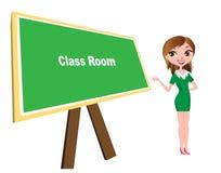 Klassenzimmer mit Brett und Lehrer Lizenzfreies Stockbild