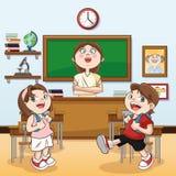 Klassenzimmer zurück zu Schuldesign Stockbilder
